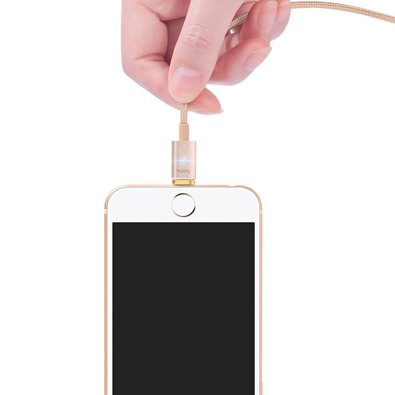 u16 magnetic adsorption lightning charging cable indicator