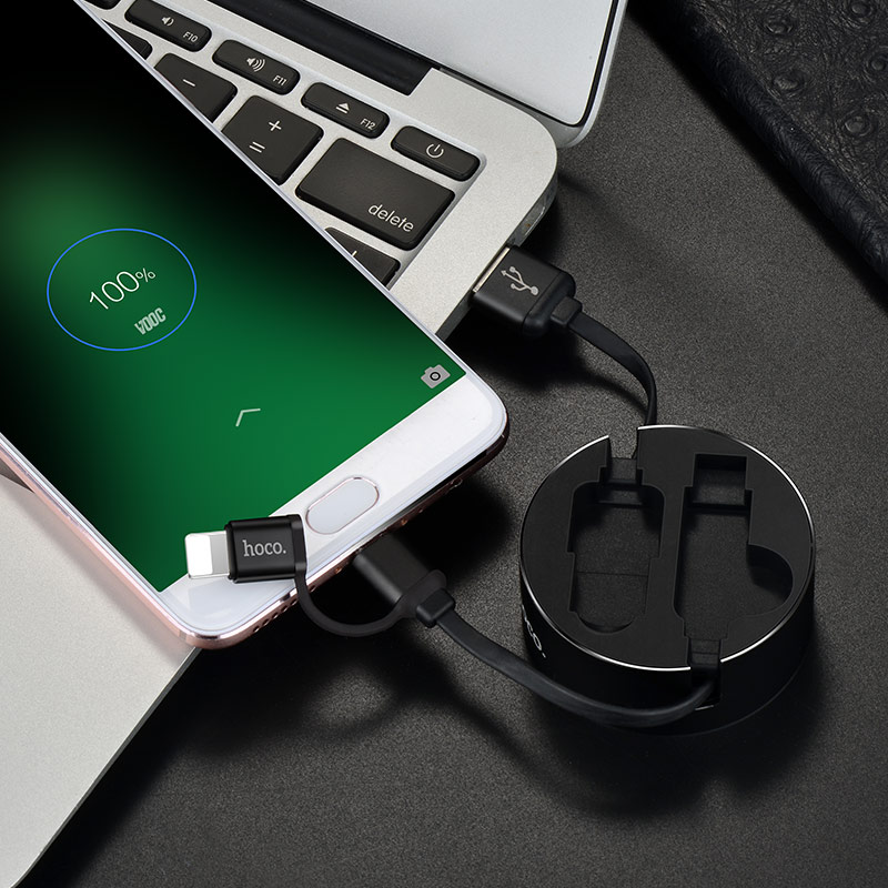 u23 2in1 resilient micro usb lightning charging cable charge android