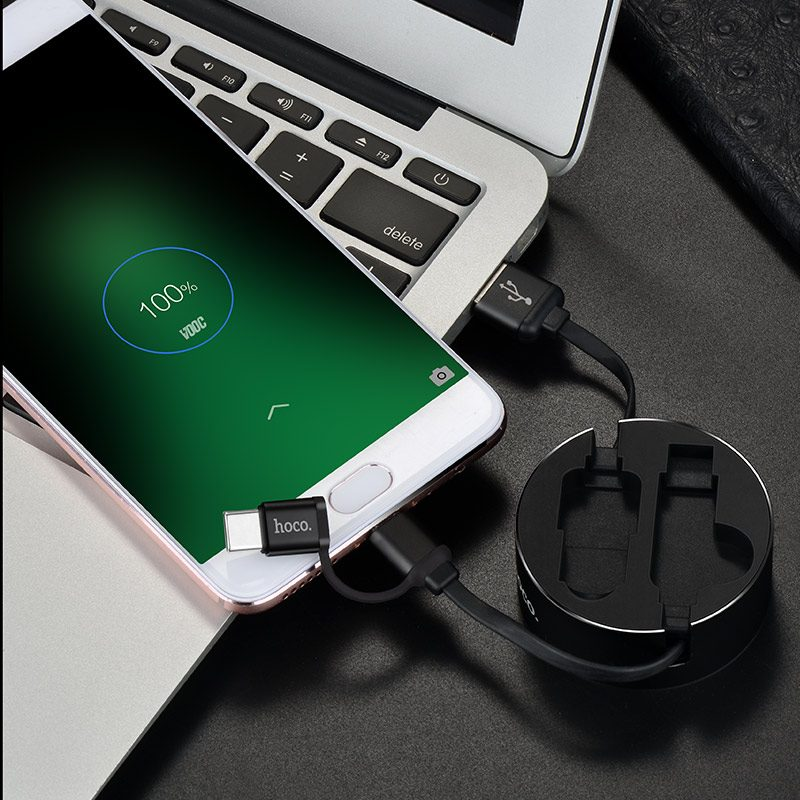 u23 2in1 resilient micro usb type c charging cable charge android