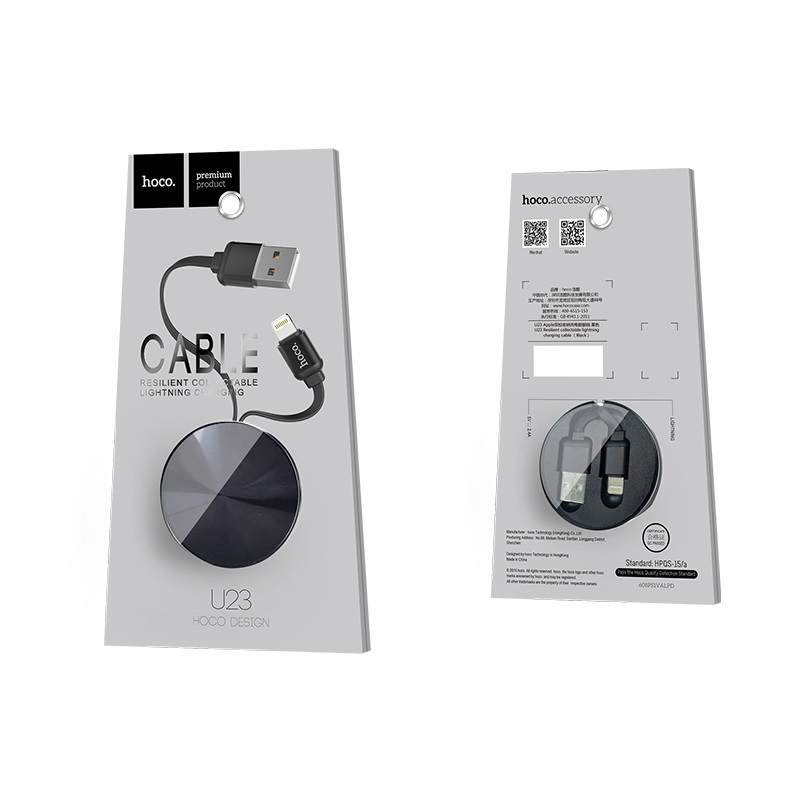 u23 resilient lightning charging cable package black