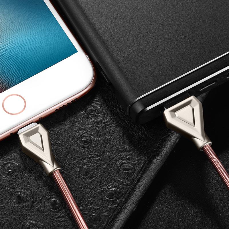 u25 golden armor lightning charging cable power bank