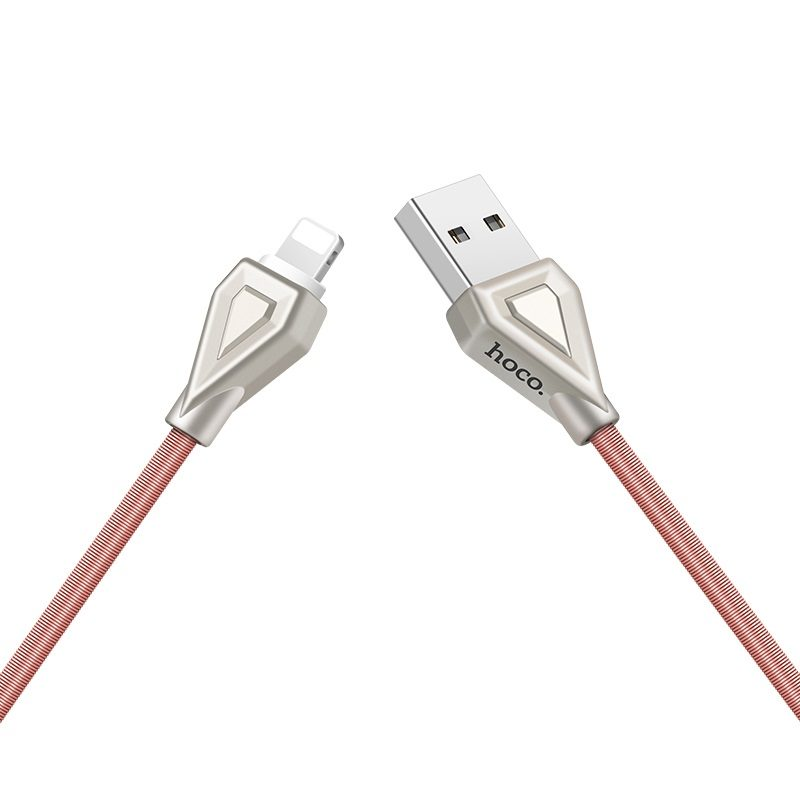 u25 golden armor lightning charging cable towards