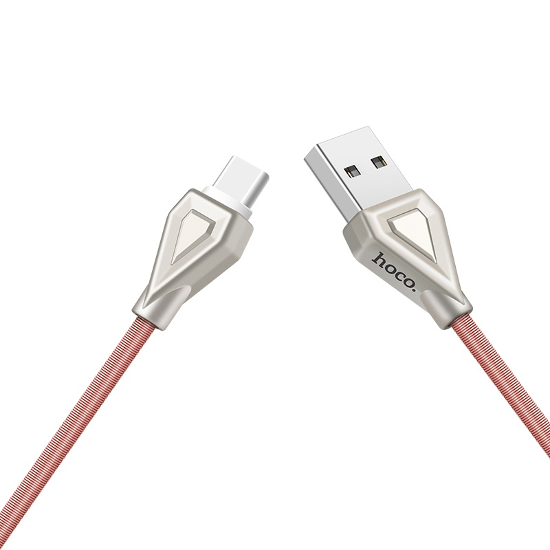 u25 golden armor type c charging cable towards