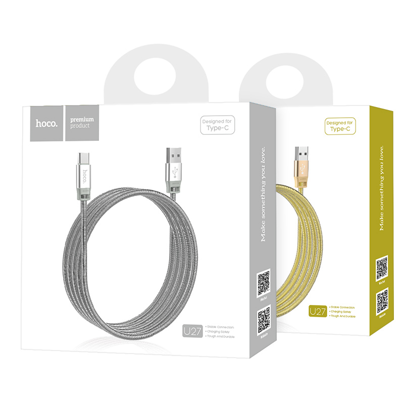 u27 golden shield type c charging cable package