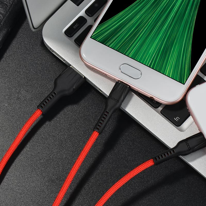 u31 benay 2in1 charging cable charge red