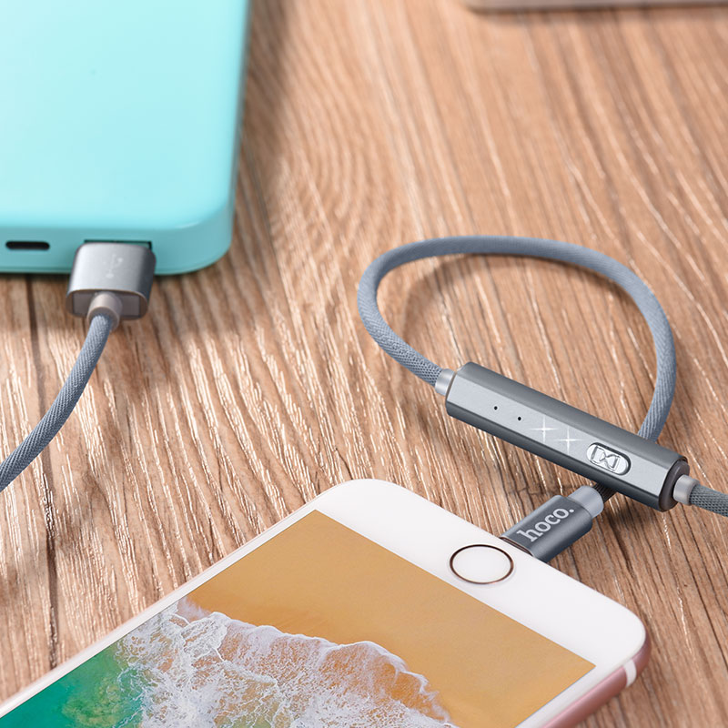 u44 timing lightning charging data cable power bank