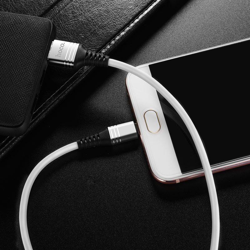 u46 tricyclic silicone micro usb charging data cable interior silver