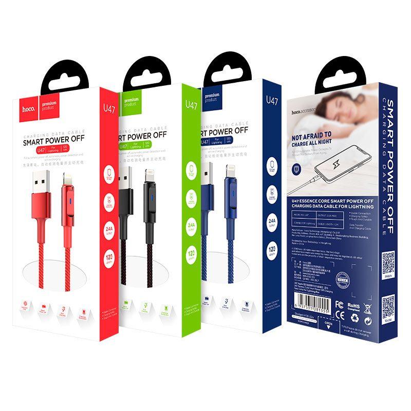 u47 essence core lightning смарт отключение зарядный дата кабель упаковка