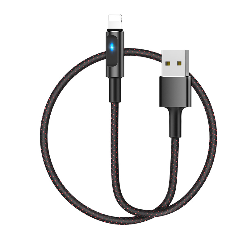 u47 essence core lightning smart power off charging data cable rounded