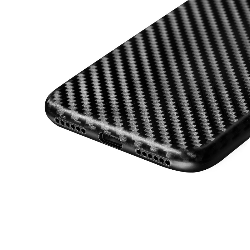 ultra thin carbon fiber case iphone 7 8 holes