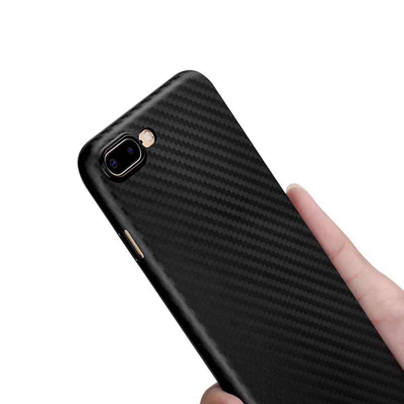ultra thin carbon fiber case iphone 7 8 plus in hand