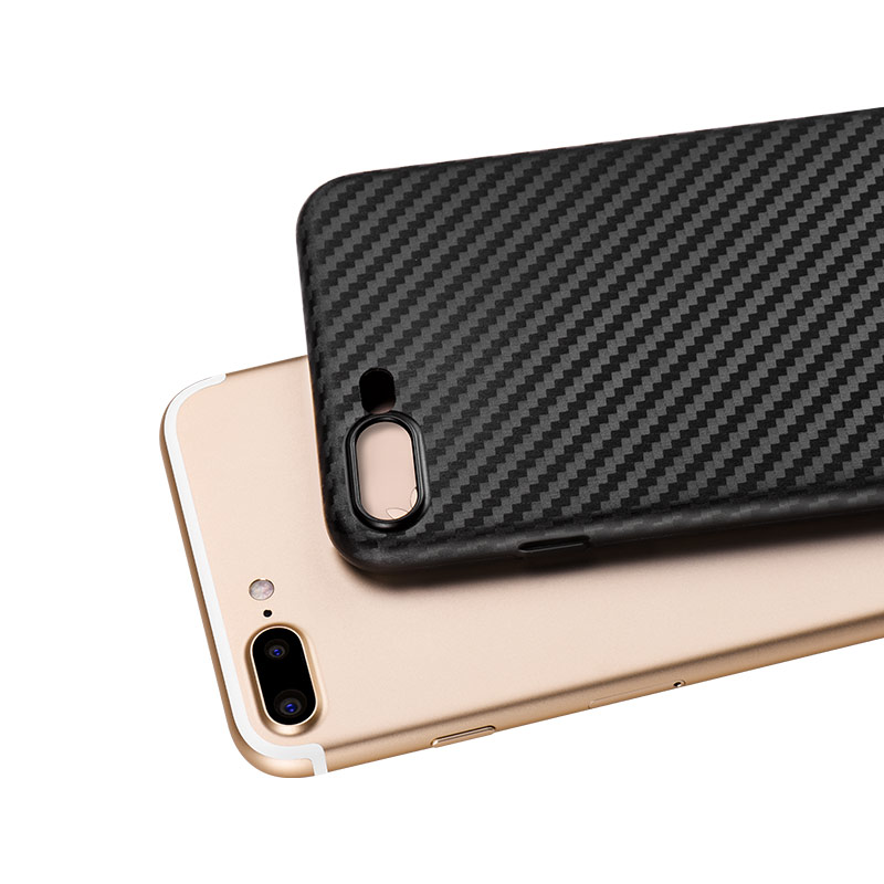 ultra thin carbon fiber case iphone 7 8 plus with phone