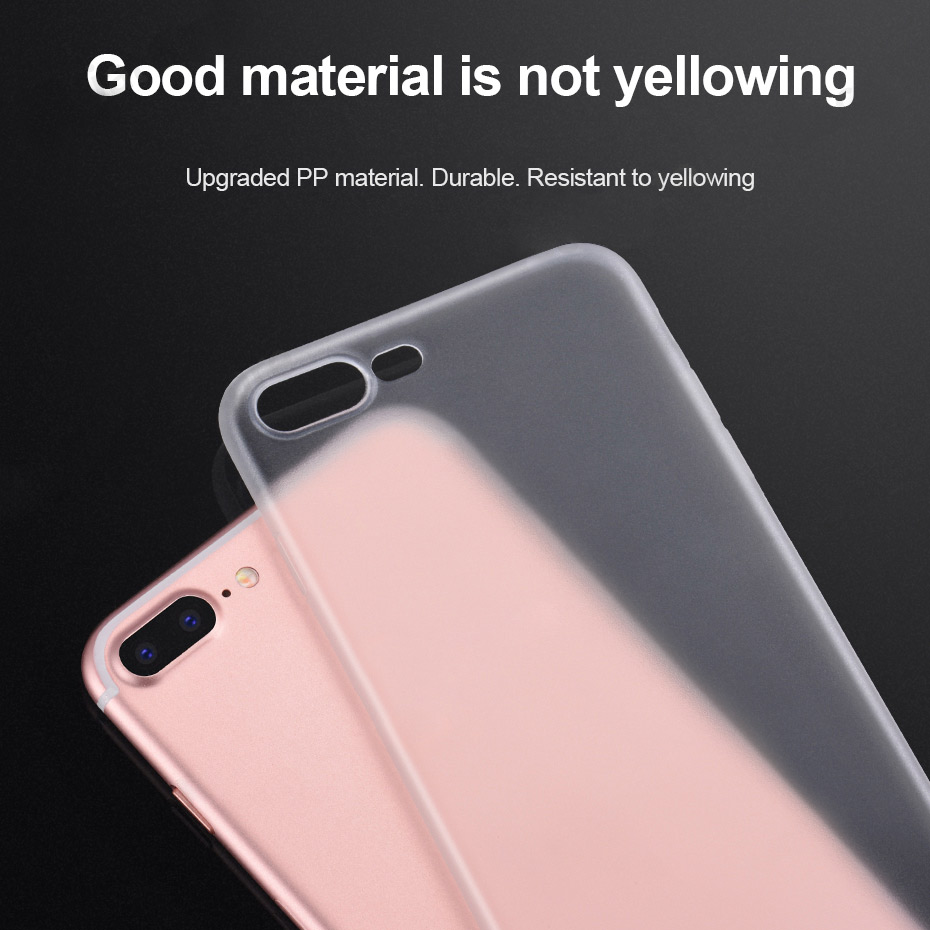 ultra thin series pp protective case iphone 7 8 plus material