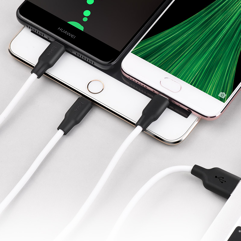x21 silicone 3 in 1 lightning micro usb type c charging cable interior