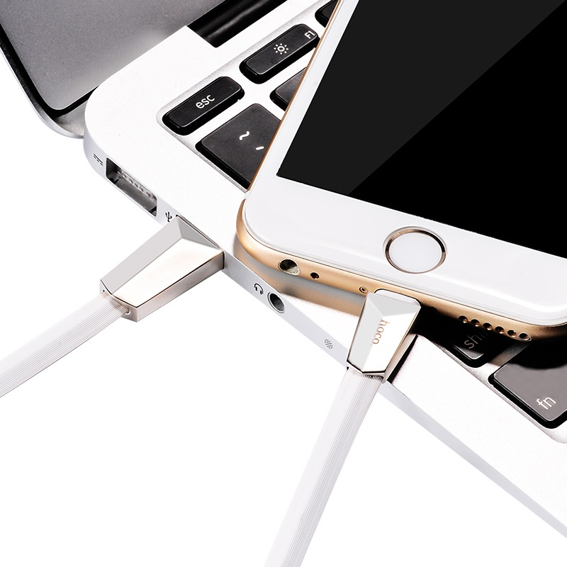 x4 lightning zinc alloy rhombus charging cable charge