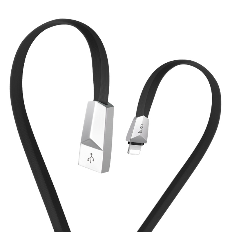 x4 lightning zinc alloy rhombus charging cable flexible
