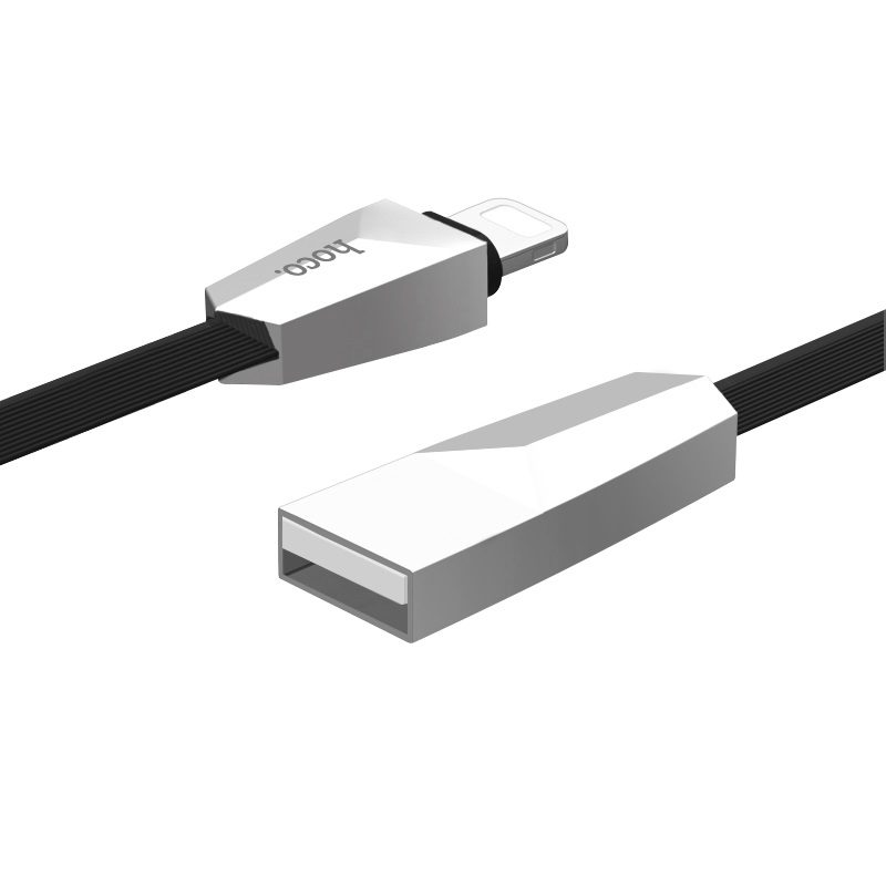x4 lightning zinc alloy rhombus charging cable usb