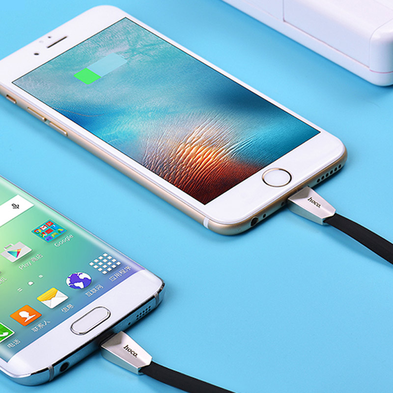x4 zinc alloy rhombus 2in1 charging cable interior