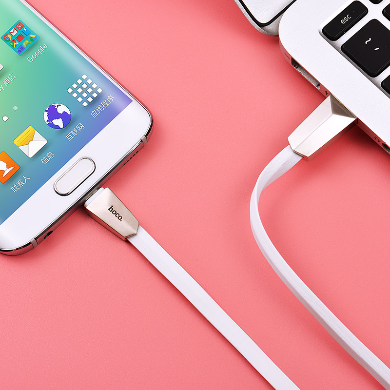 x4 zinc alloy rhombus micro usb charging cable interior