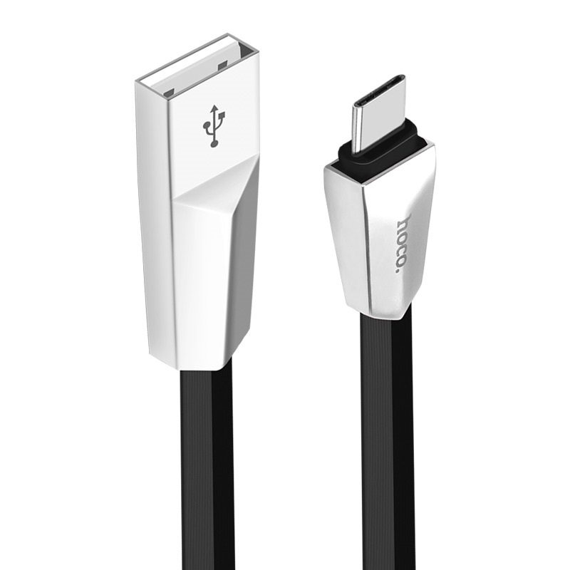 x4 zinc alloy rhombus type c charging cable