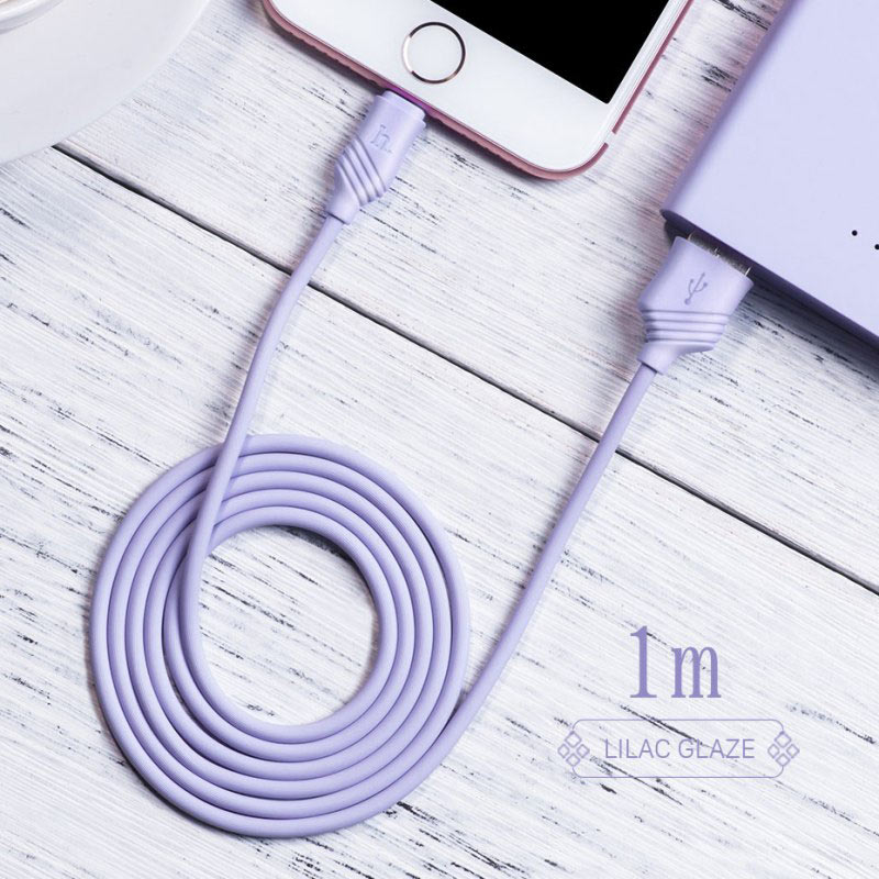 x6 khaki lightning charging cable interior purple