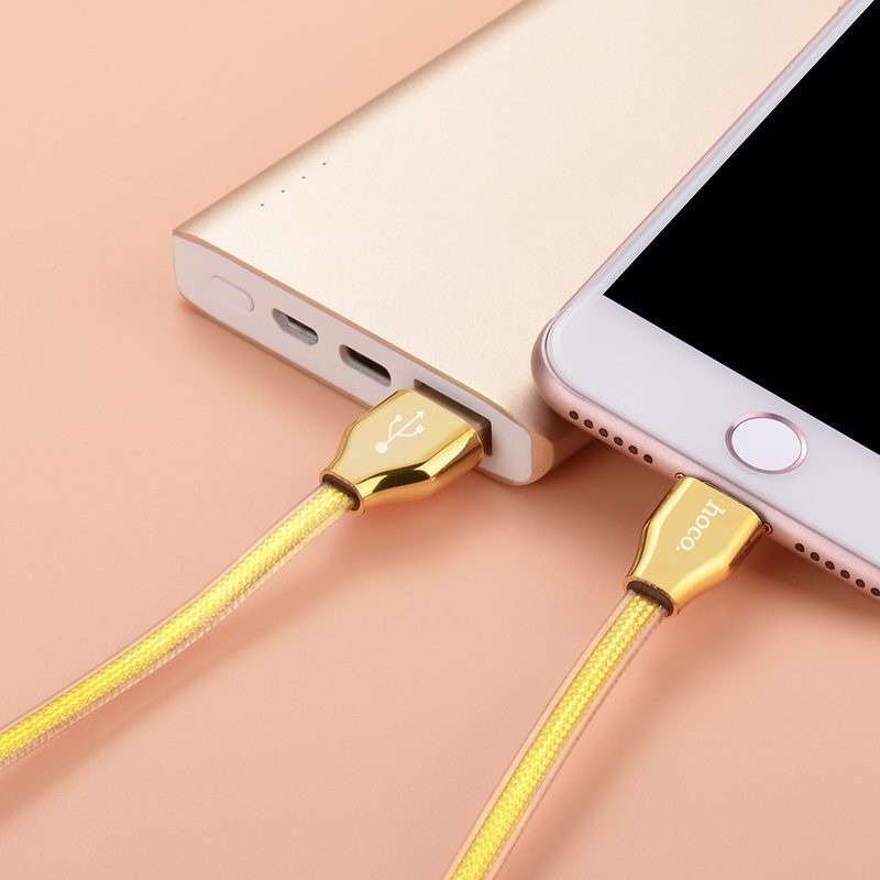 x7 golden jelly knitted lightning charging cable 4