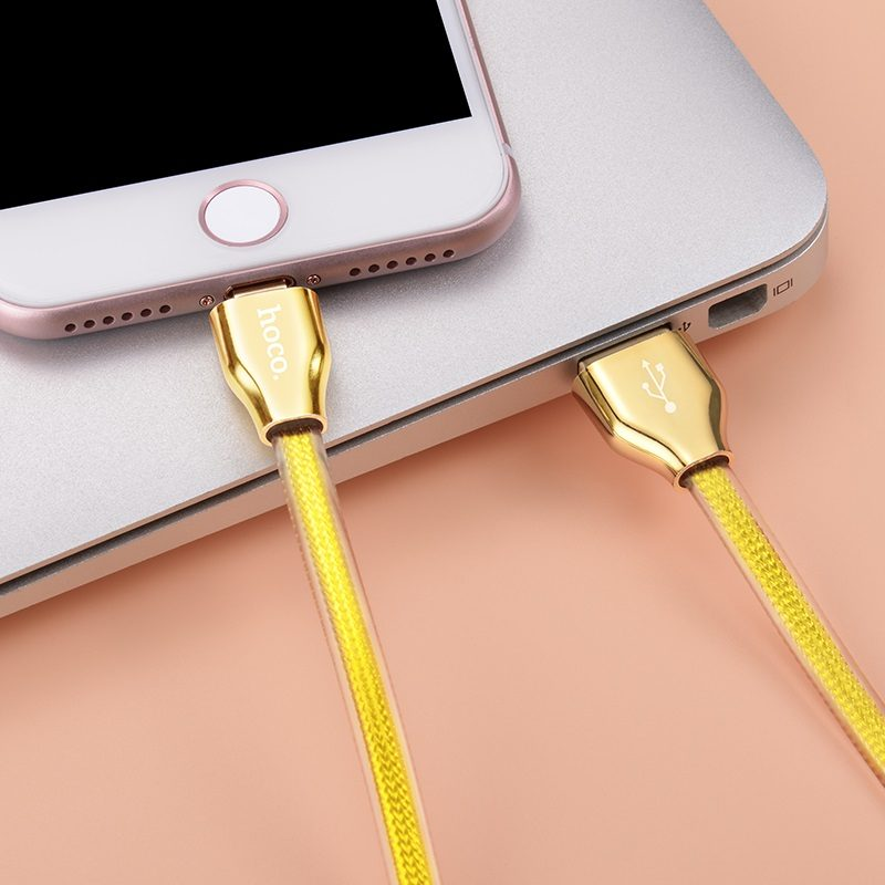 x7 golden jelly knitted lightning charging cable 5