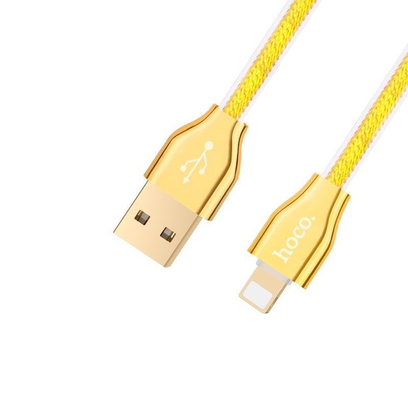 x7 golden jelly knitted lightning charging cable main