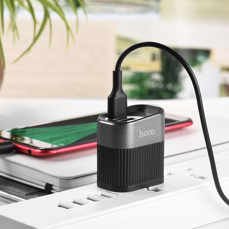 hoco c40 speedmaster dual usb port charger us charging