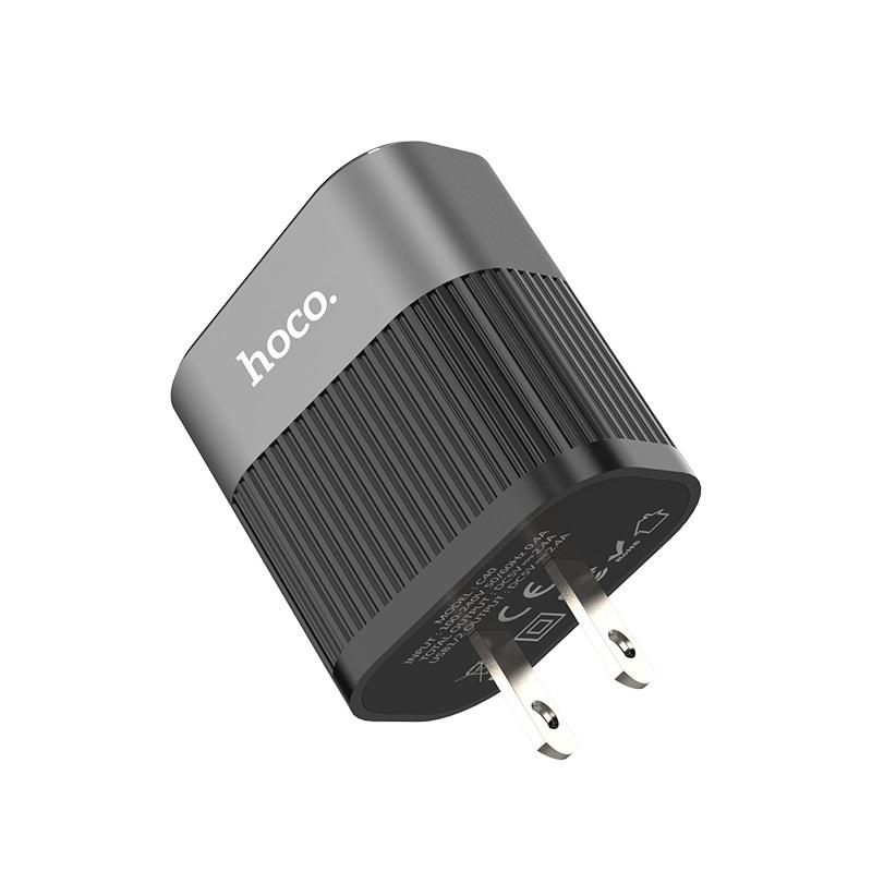 hoco c40 speedmaster dual usb port charger us plug
