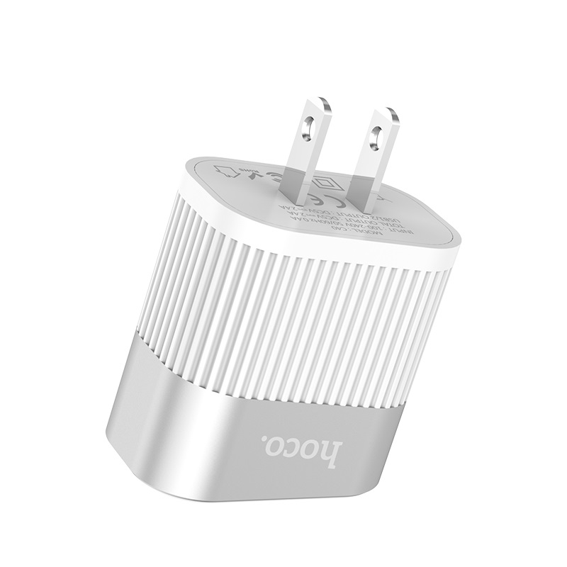 hoco c40 speedmaster dual usb port charger us shell
