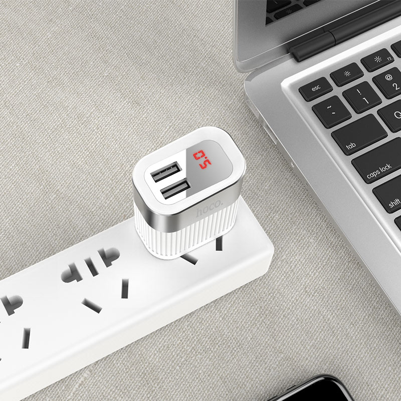 hoco c40 speedmaster dual usb port charger us tabletop