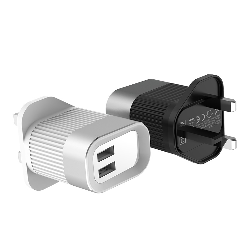 hoco c40b speedmaster dual usb port charger uk adapter