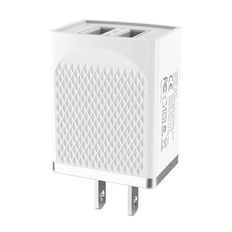 hoco c43 vast power зарядное устройство us с двумя портами usb