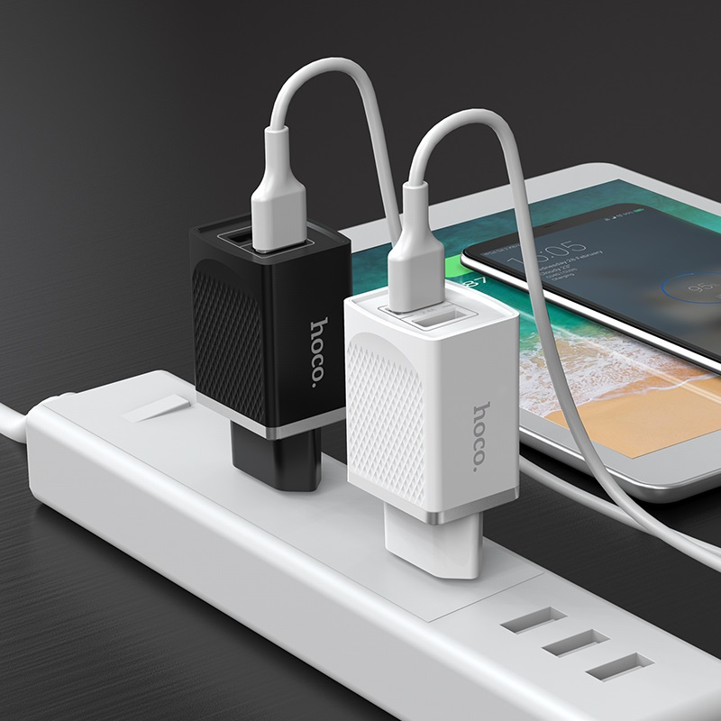 hoco c43a vast power dual port charger eu charging