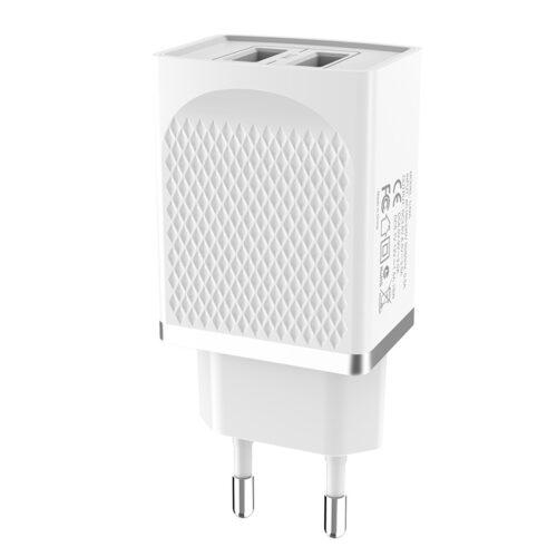 hoco c43 vast power зарядное устройство с двумя портами eu usb