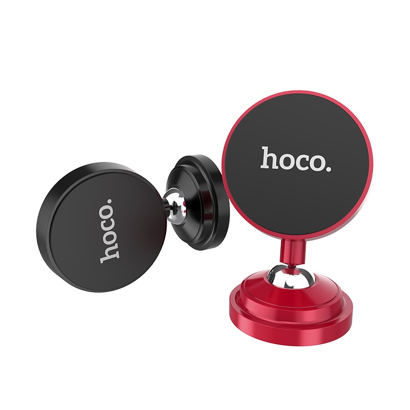 hoco ca36 dashboard metal magnetic in car holder black red