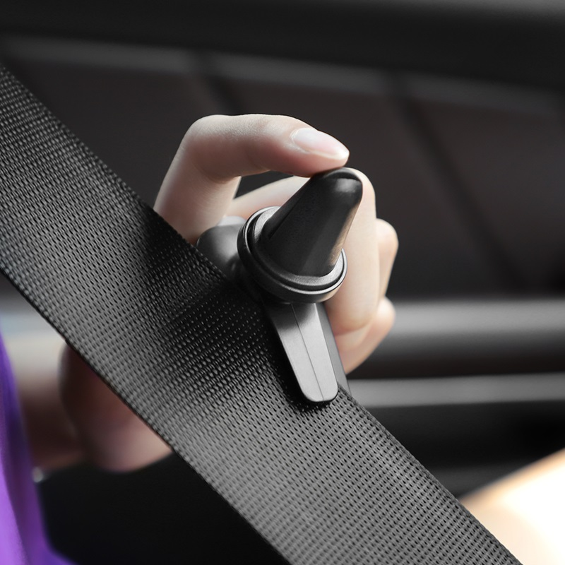 hoco ca37 air outlet multi function magnetic in car holder cut safety belt