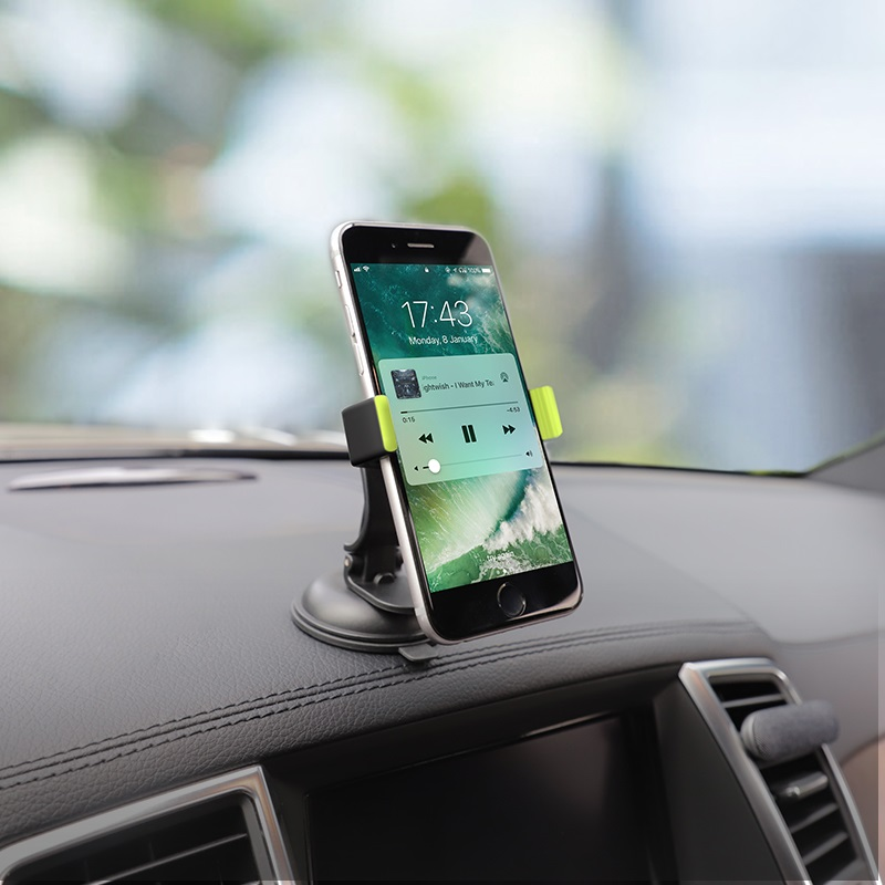 hoco ca40 refined suction cup base in car dashboard phone holder bracket