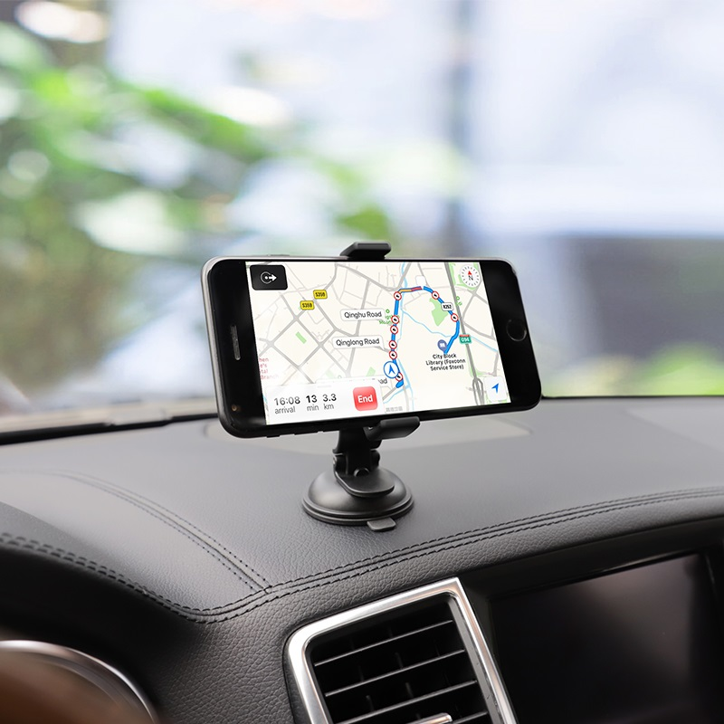 hoco ca40 refined suction cup base in car dashboard phone holder gps
