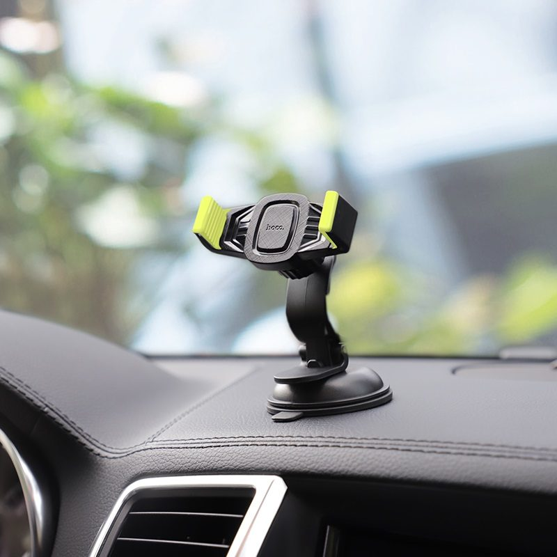 hoco ca40 refined suction cup base in car dashboard phone holder panel