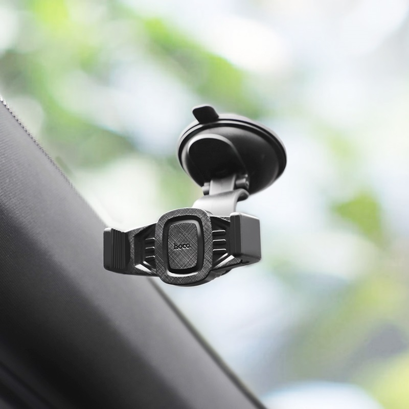 hoco ca40 refined suction cup base in car dashboard phone holder windshield