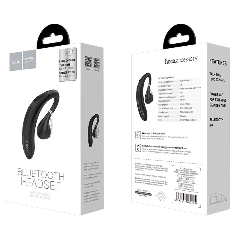 hoco e35 cool moon bluetooth headset package