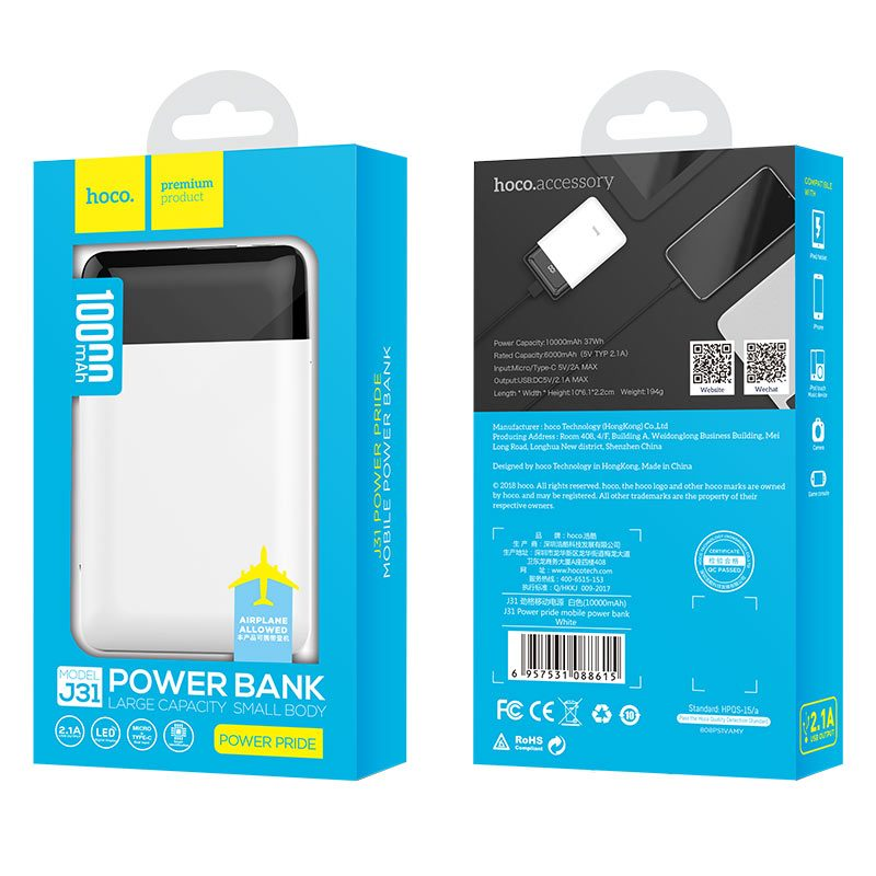 hoco j31 power pride mobile power bank package