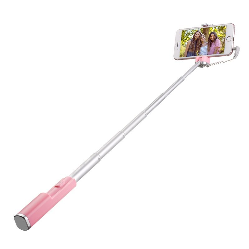 hoco k9 graceful mini wire control aluminum alloy selfie stick expand