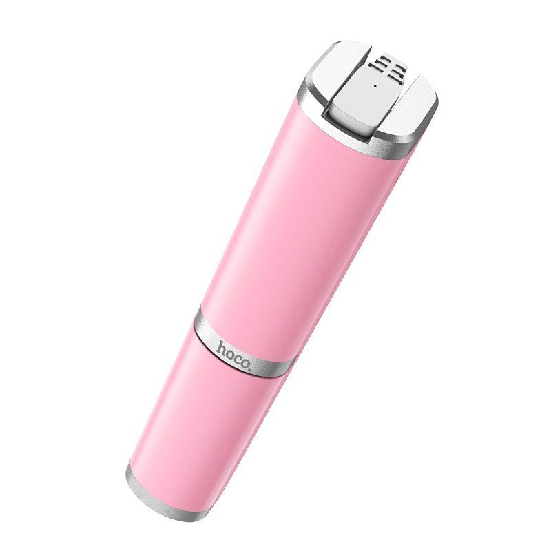 hoco k9 graceful mini wire control aluminum alloy selfie stick portable