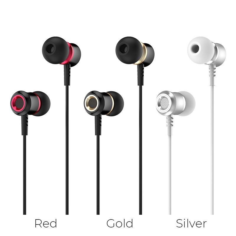 hoco m46 jewel sound universal earphones with microphone colors