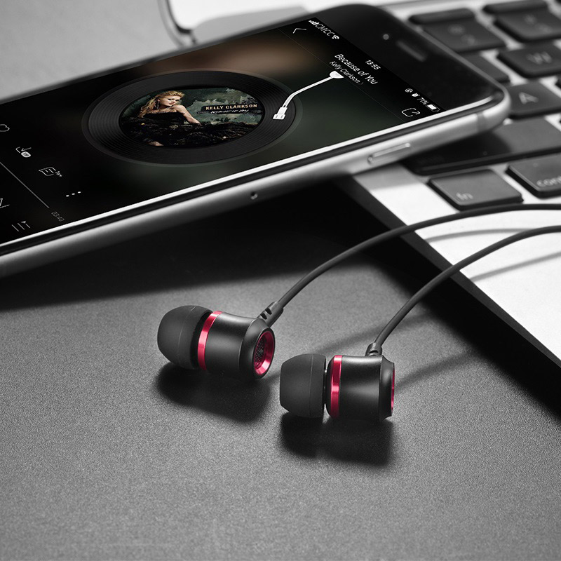 hoco m46 jewel sound universal earphones with microphone light