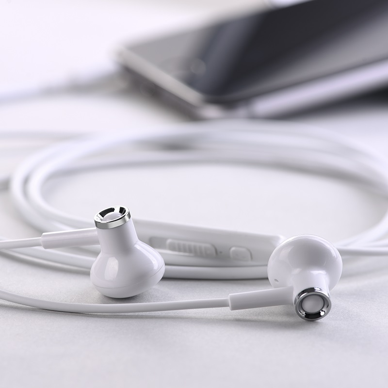 hoco m47 canorous wire control earphones with microphone earpads