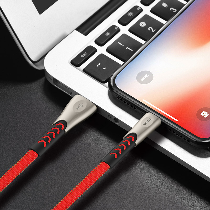 hoco u48 superior speed charging data cable for lightning overview